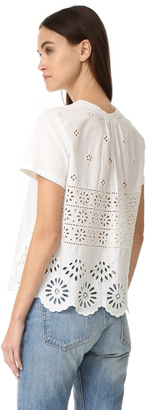 Sea Soft Eyelet Back Tee $185 thestylecure.com
