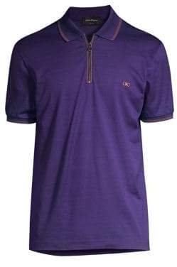 Salvatore Ferragamo Cotton Pique Polo Shirt
