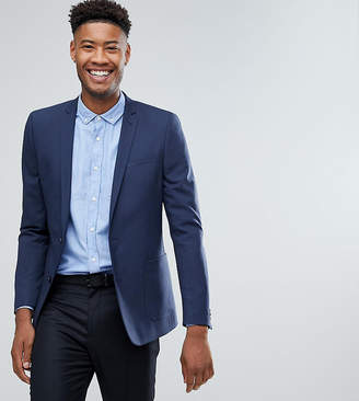 Asos Design TALL Skinny Blazer In Blue
