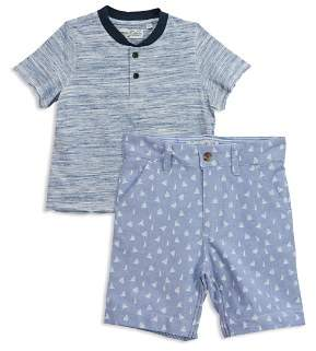 Sovereign Code Boys' Variegated Tee & Anchor-Print Shorts Set - Baby