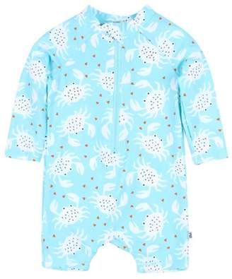 Bebe Baby Boys Luke Crab Long Sleeve Sunsuit