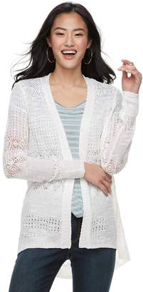 Candies Juniors' Candie's Pointelle Cardigan