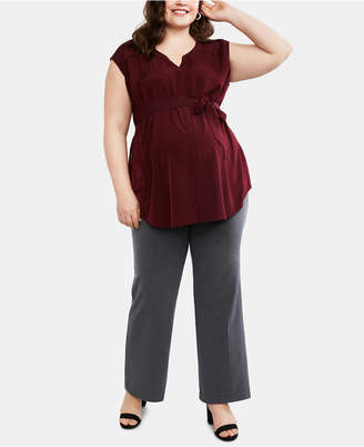 17bebf03bf528 Motherhood Maternity Plus Size Bootcut Dress Pants