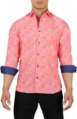 Maceoo Shaped-Fit Seashell Sport Shirt
