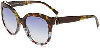 Burberry Women's 0BE4243 36364L Sunglasses, Green Blue Havana/Blueegradient