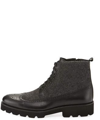 Jared Lang Men's Wing-Tip Lace-Up Boots