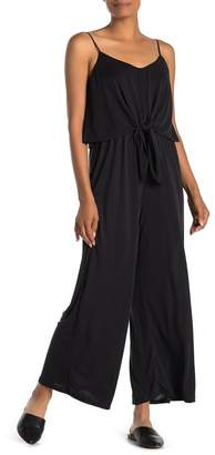 ALL IN FAVOR Tie Front Culotte Jumpsuit
