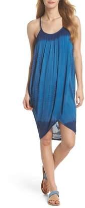 Green Dragon High Tide Pali Wrap Cover-Up Dress