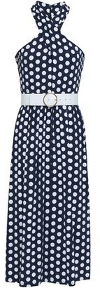 MICHAEL Michael Kors Polka-Dot Stretch-Jersey Midi Dress