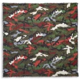 Valentino Camouflage Cashmere & Silk Scarf