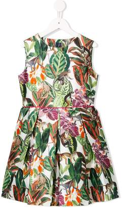 Oscar de la Renta Kids Jungle print dress