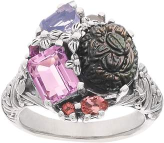Stephen Dweck Carved Gemstone Cluster Ring