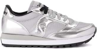Saucony Jazz Silver Metalleather And Fabric Sneaker
