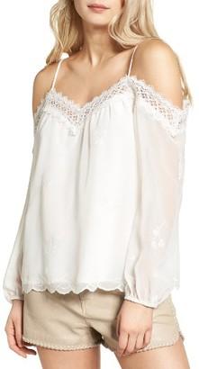Women's Wayf Amelia Cold Shoulder Blouse $69 thestylecure.com