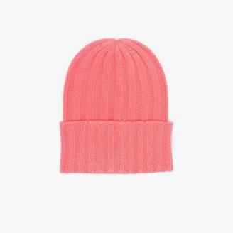 c6ab48aea217c The Elder Statesman pink cashmere ribbed knit beanie