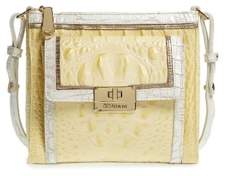 Brahmin Mimosa Leather Crossbody Bag - Yellow $235 thestylecure.com