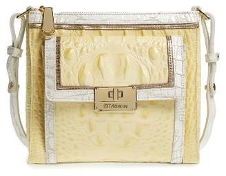 Brahmin Mimosa Leather Crossbody Bag - Yellow $235 thestylecure.com