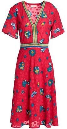BA&SH Floral-print Fil Coupe Dress