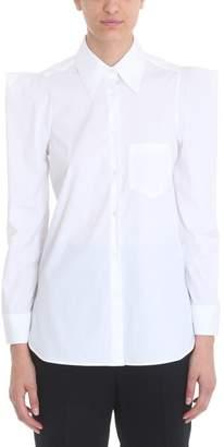 Neil Barrett Long Sleeve White Cotton Poplin Shirt