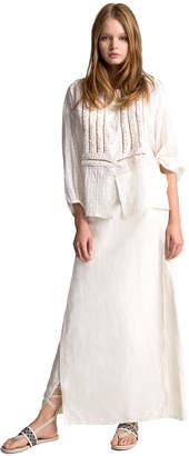 Max Studio linen and tencel long skirt