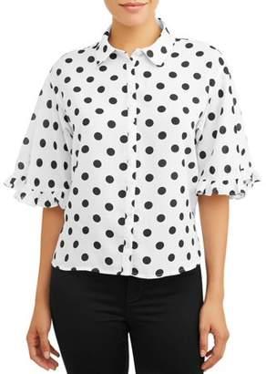 Zac & Rachel Women's Casual Summer Button Blouse