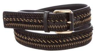Salvatore Ferragamo Embroidered Buckle Belt