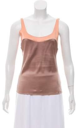 Chanel Colorblock Silk Top