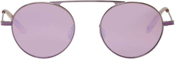 Garrett Leight Purple Zeno Sunglasses