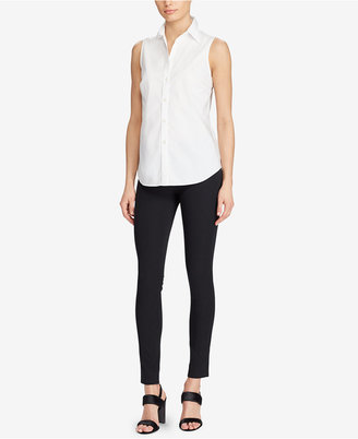 Lauren Ralph Lauren Sleeveless Cotton Shirt $59.50 thestylecure.com