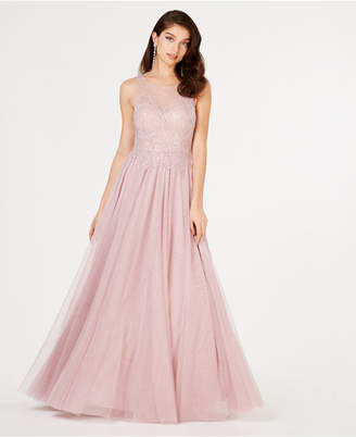 Say Yes to the Prom Juniors' Sequined Flower Ballgown