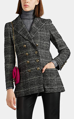Philosophy di Lorenzo Serafini Women's Plaid Wool-Blend Double-Breasted Blazer - Gray