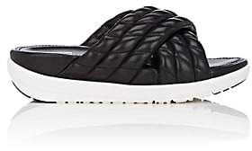 FitFlop LIMITED EDITION Women's Quilted Leather Slide Sandals-Black