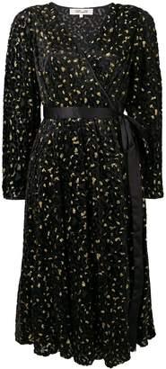 Diane von Furstenberg floral patterned wrap style dress
