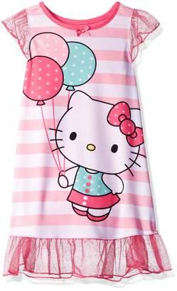 Hello Kitty Toddler Girls' Striped Dorm Nightgown