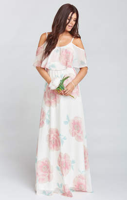 Show Me Your Mumu Caitlin Ruffle Maxi Dress ~ GWSXMUMU Wedding Bells Floral