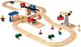 Plan Toys Road & Rail Play Set - Transportation