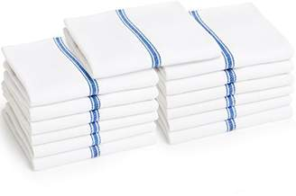 """Liliane Collection Kitchen Dish Towels - Includes 13 Towels - Commercial Grade 100% Cotton Towels (27"""" x 14"""") - Classic White Tea Towels with Stripes"""