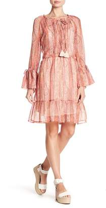 French Connection Malika Printed Bell Sleeve Dress