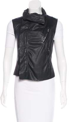 Rick Owens Leather Zip-Up Vest