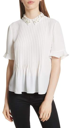 Kate Spade New York Embellished Collar Shirt