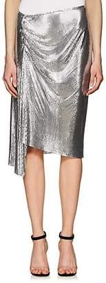 Paco Rabanne Women's Metal-Mesh Knee-Length Skirt - Silver