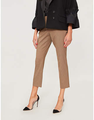 Rosetta Getty Checked high-rise woven trousers