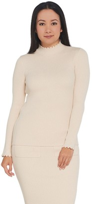 G.I.L.I. Got It Love It G.I.L.I. Ribbed Scallop Neck Sweater