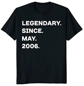 Legendary Since May 2006 12th Years Old Birthday Shirt