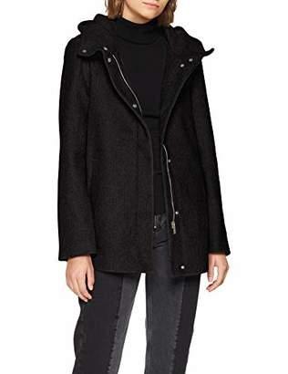 Vero Moda Women's Vmhyper Class Wool Jacket Noos Coat, Dark Grey Melange, (Size: Small)