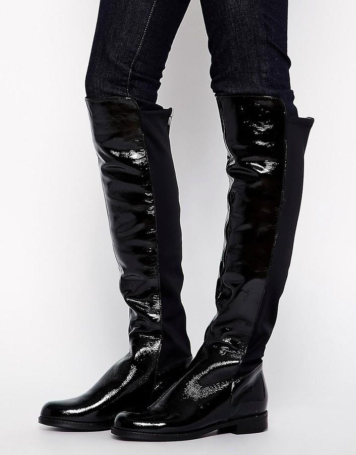AldoALDO Dyanna Stretch Back Patent Over The Knee Boots