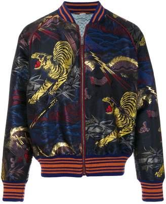Gucci tiger jacquard bomber jacket