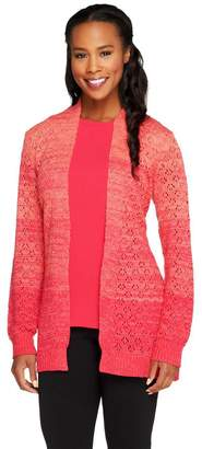 Liz Claiborne New York Ombre Pointelle Cardigan with Tank