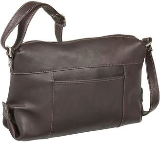 Le Donne Leather Top-Zip Front-Slip Shoulder Bag