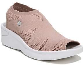 BZEES Secret Peep Toe Knit Sneaker